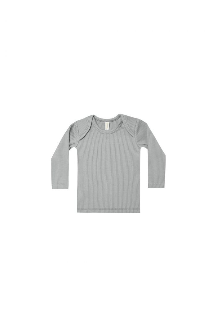 Quincy Mae Ribbed Lap Tee Dusty Blue_1