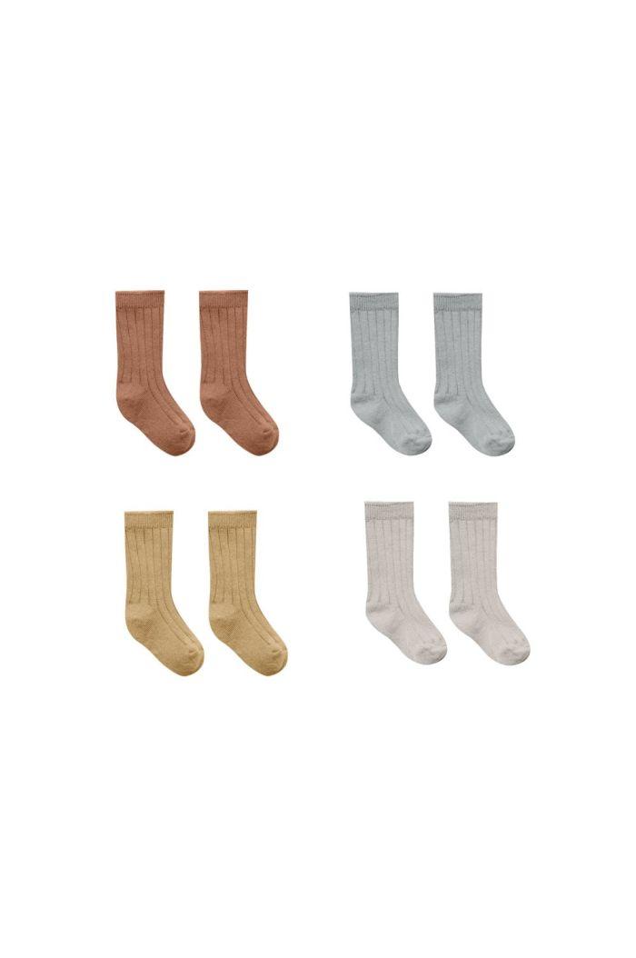 Quincy Mae Socks Set Clay, Dusty Blue, Honey, Ash_1