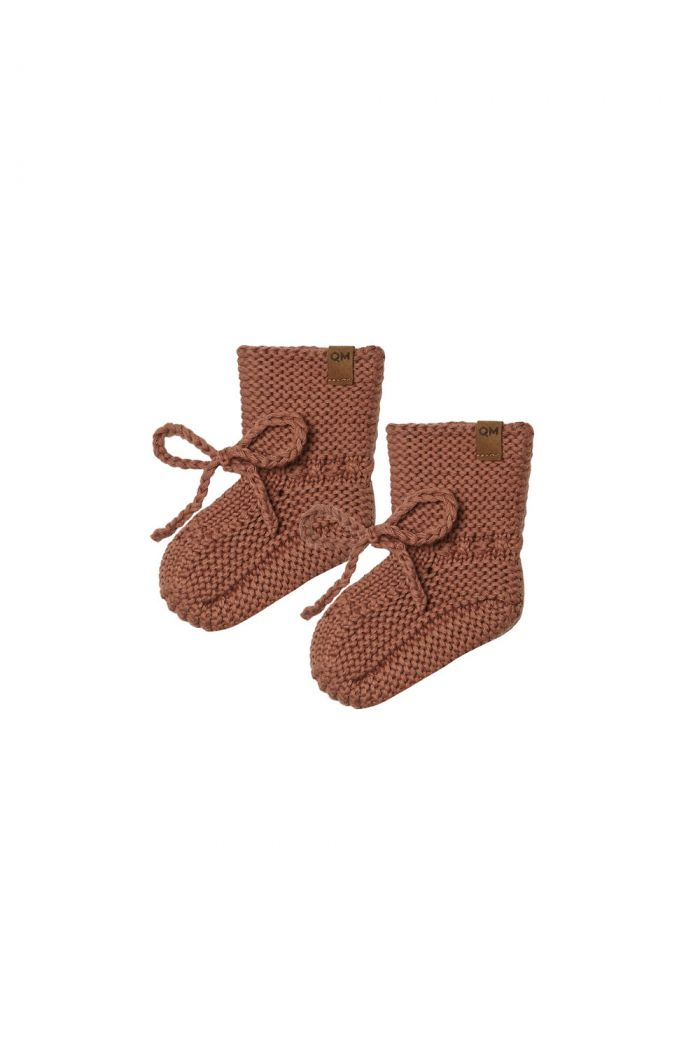 Quincy Mae Knit Booties Clay_1