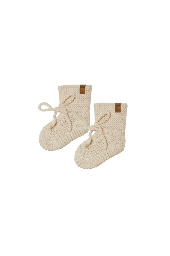 Quincy Mae Knit Booties Natural_1