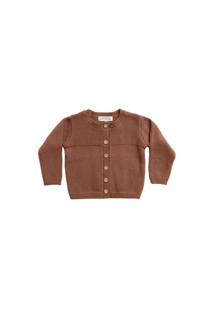Quincy Mae Knit Cardigan Clay_1
