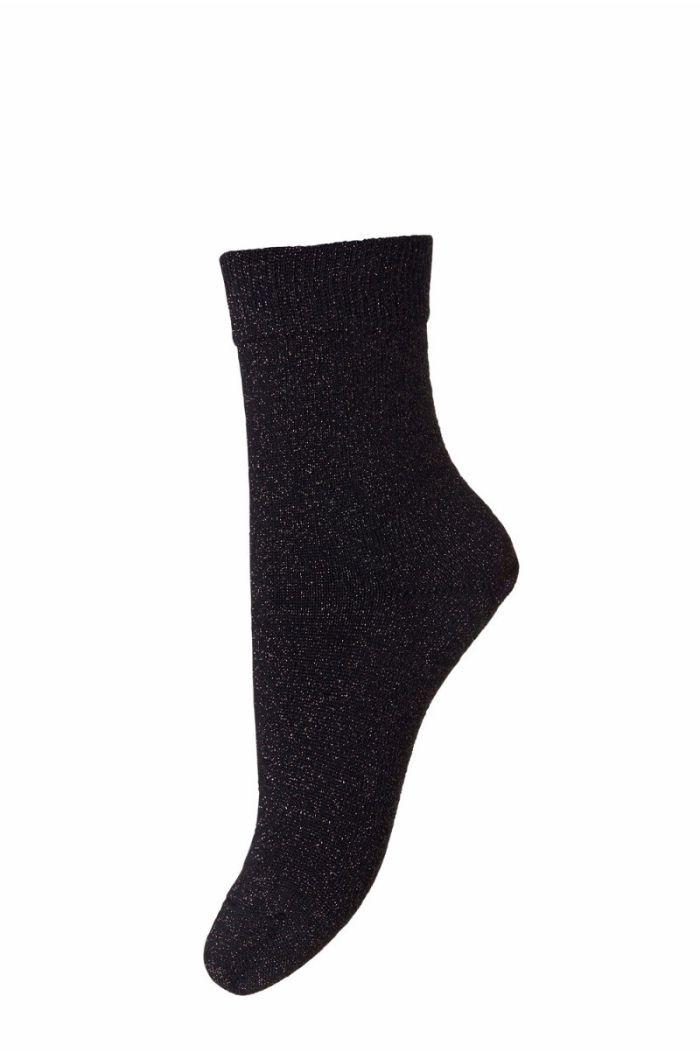 MP Denmark Socks Ankle Lulu Black Glitter
