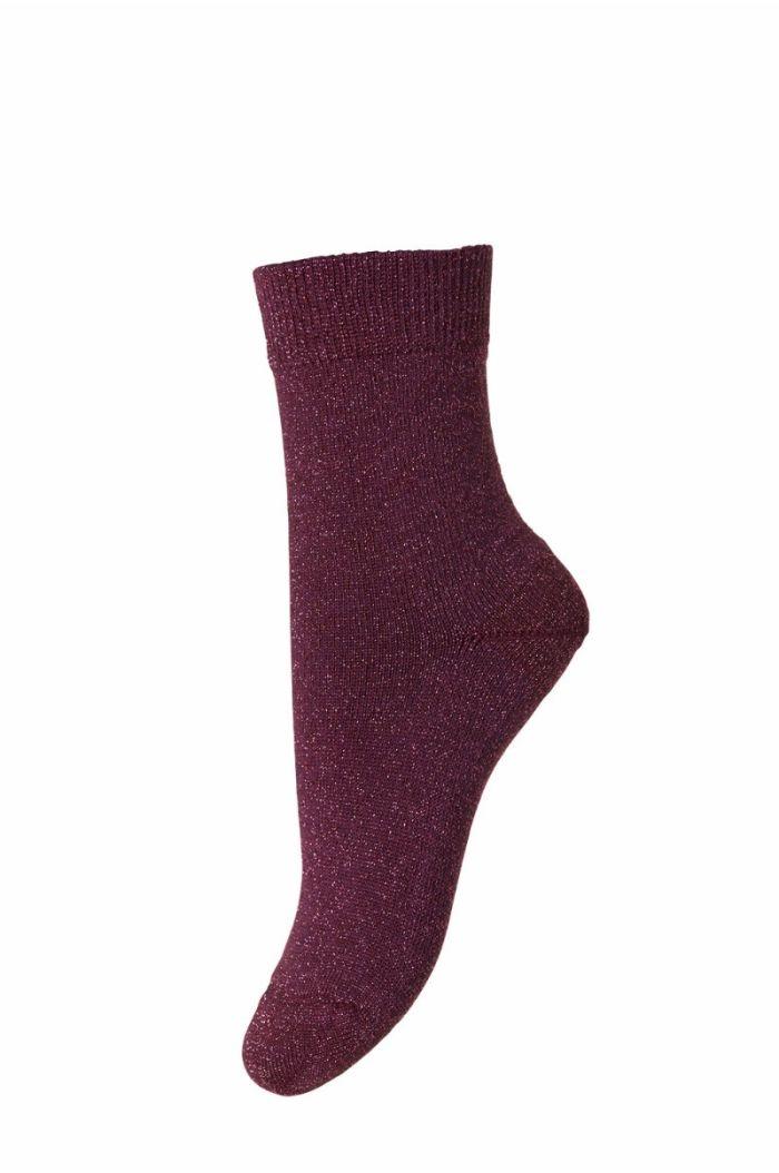 MP Denmark Socks Ankle Lulu Purple Glitter