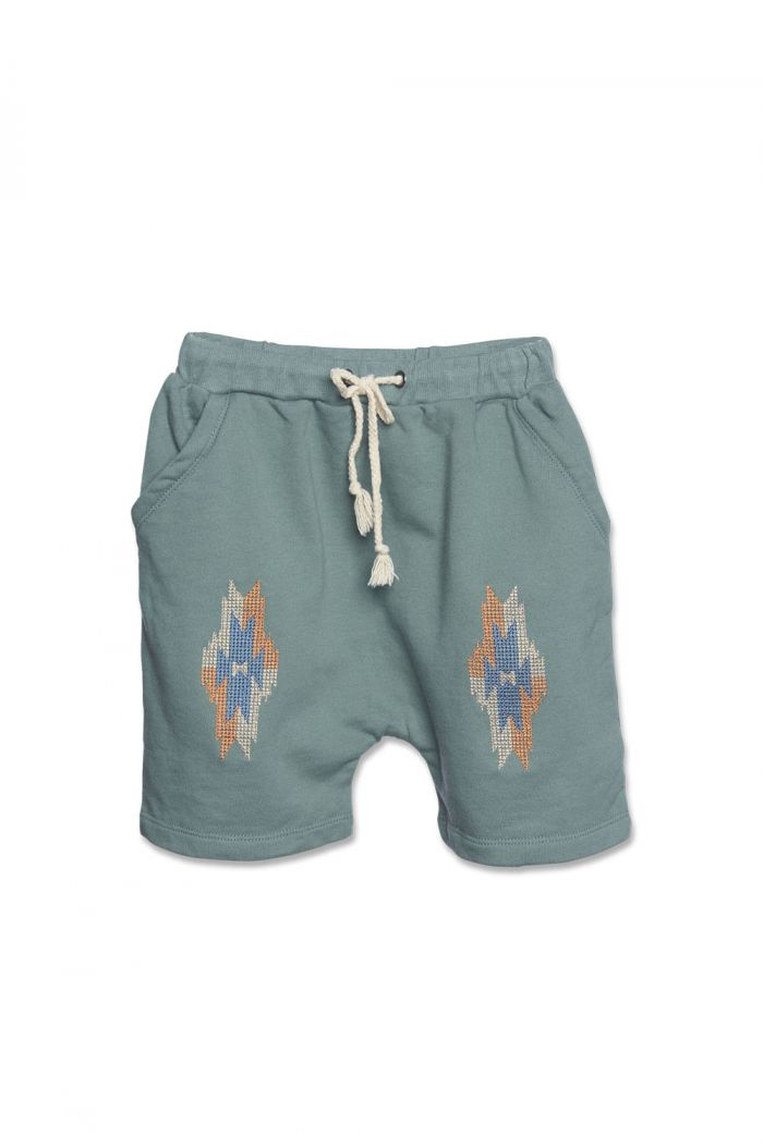 Wander &Wonder Aztec Shorts Basil_1
