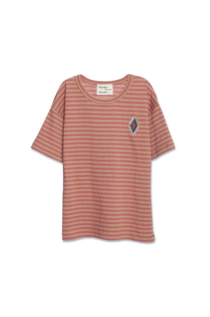 Wander & Wonder Aztec Stripe Tee Clay Stripe_1