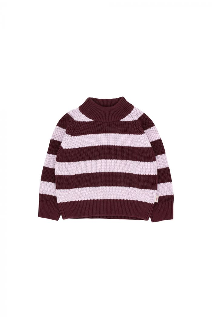 Tinycottons Stripes Sweater aubergine/light lilac