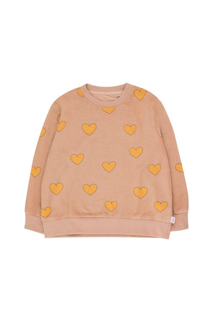 Tinycottons Hearts Sweatshirt light nude/yellow