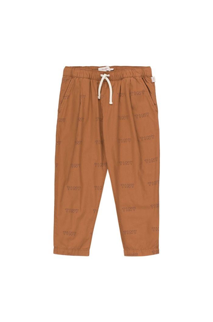 Tinycottons Tiny Pleated Pant cinnamon/light navy