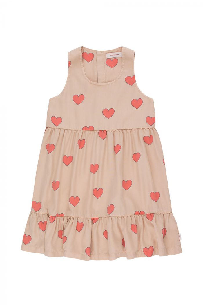 Tinycottons Hearts Dress light nude/red