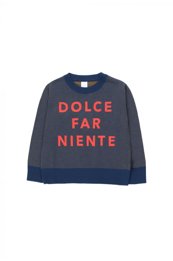 Tinycottons Dolce Far Niente Sweater light navy/gold