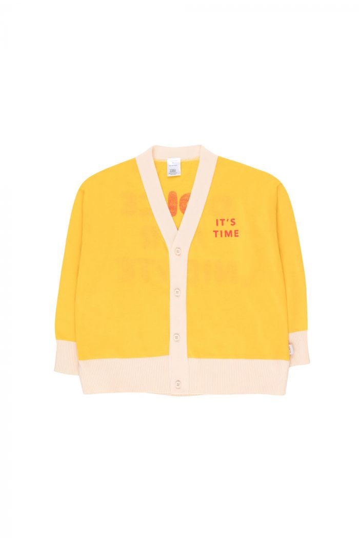 Tinycottons It'S Time Cardigan yellow/red