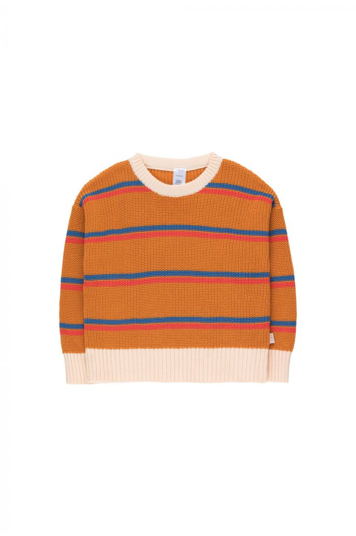Tinycottons Stripes Sweater brick/red/summer navy