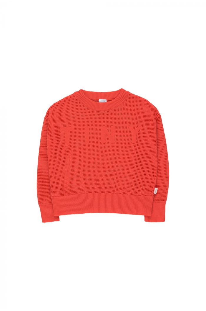 Tinycottons Tiny Crop Sweater red