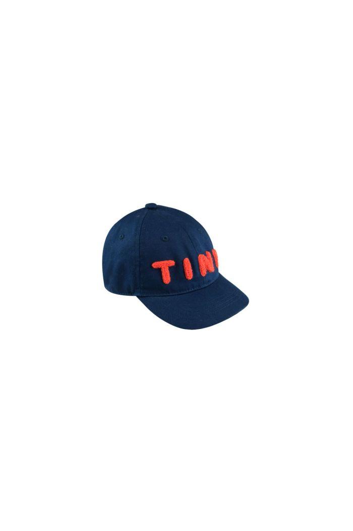 Tinycottons Tiny Cap light navy/red