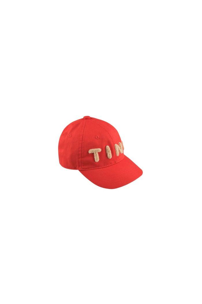 Tinycottons Tiny Cap red/light cream