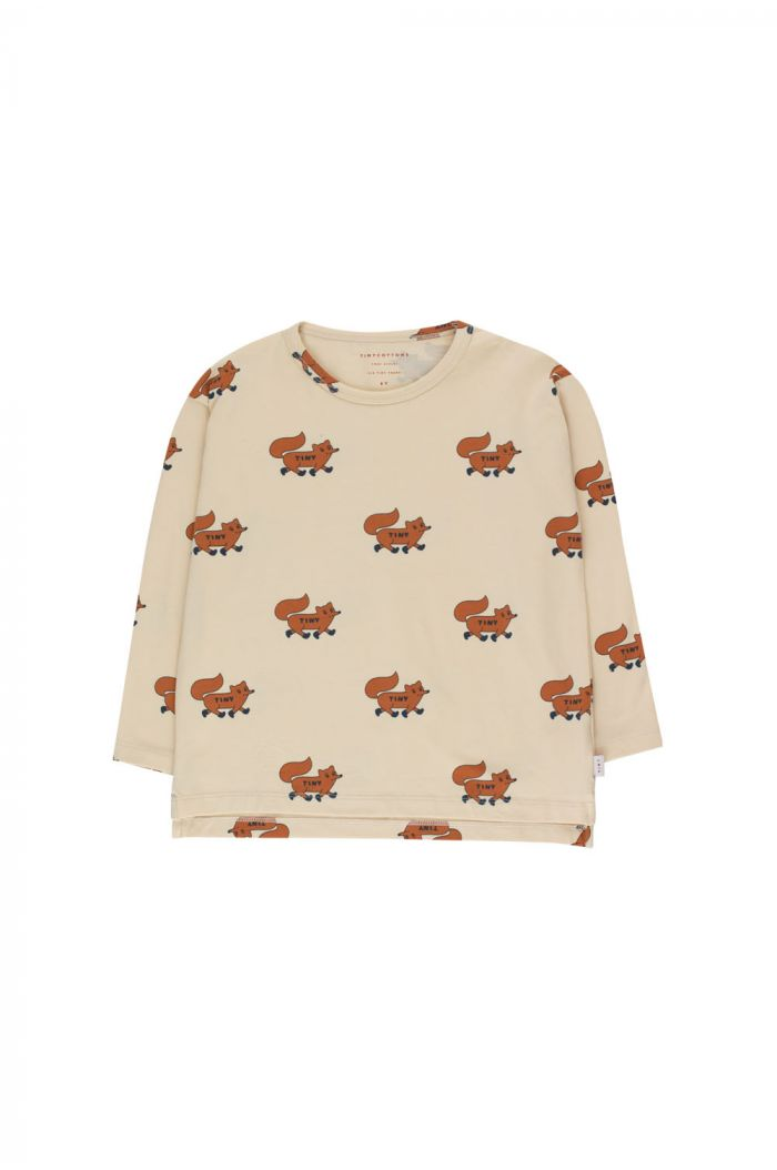 """Tinycottons """"Foxes"""" Tee cream/brown_1"""