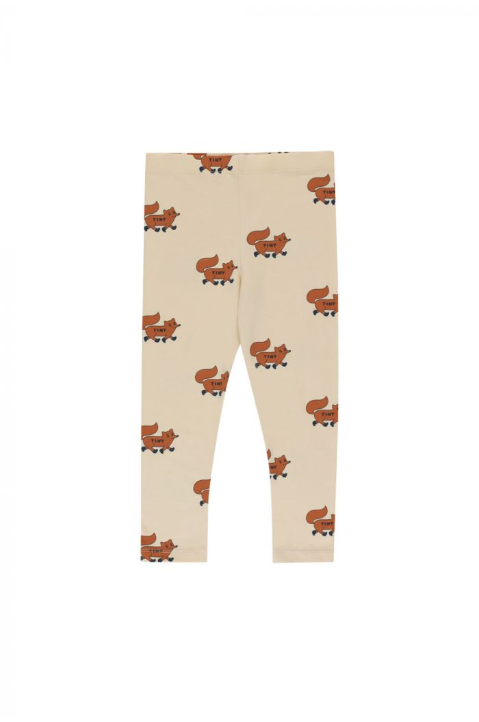 """Tinycottons """"Foxes"""" Pant cream/brown_1"""
