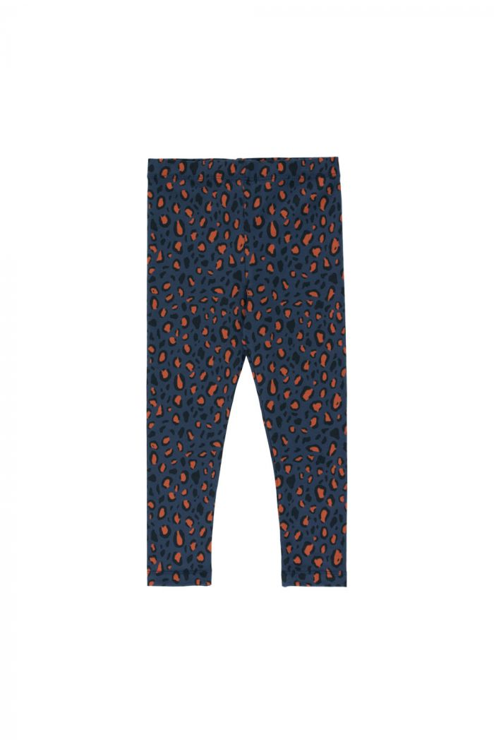 "Tinycottons ""Animal Print"" Pant light navy/dark brown_1"