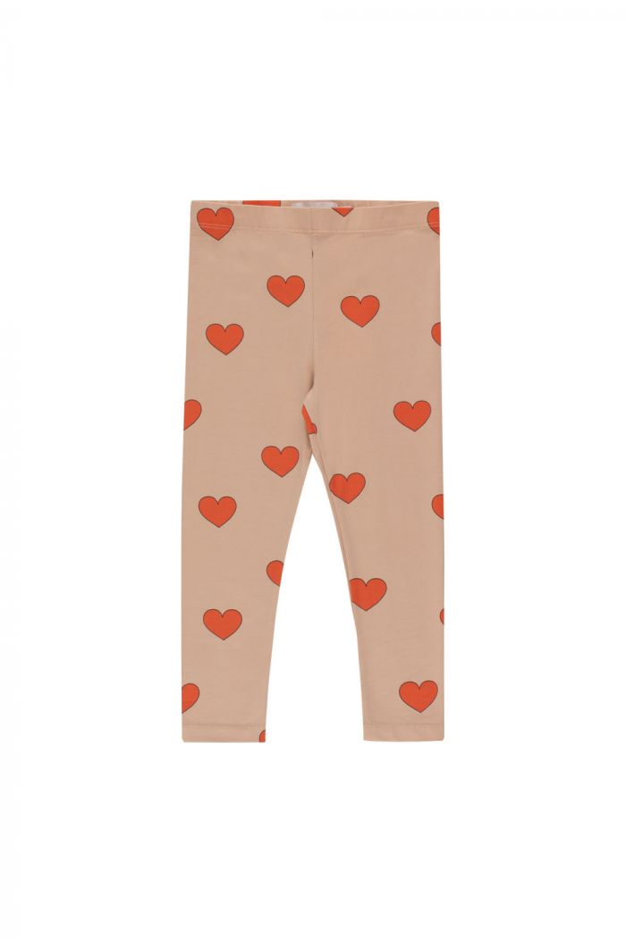 """Tinycottons """"Hearts"""" Pant light nude/red_1"""