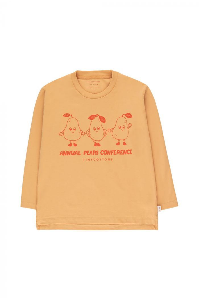 """Tinycottons """"Pears Conference"""" Tee camel/red_1"""