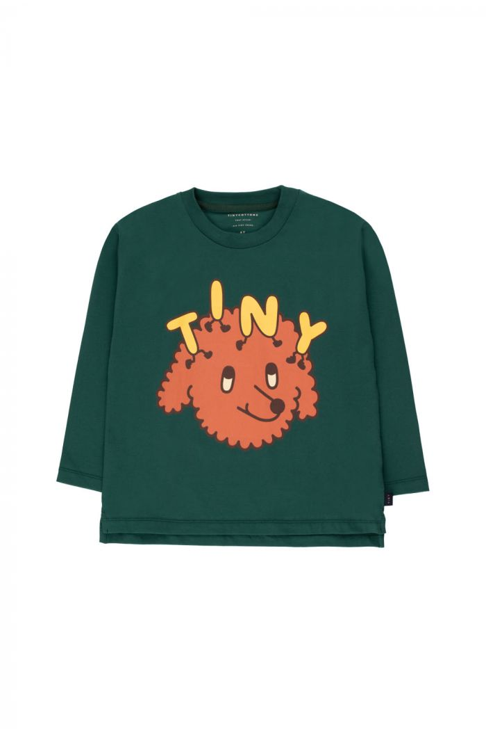 "Tinycottons ""Tiny Dog"" Tee dark green/sienna_1"