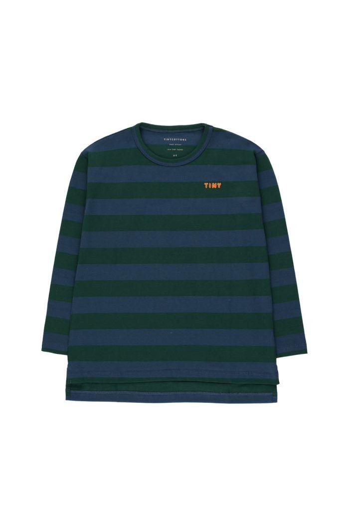 "Tinycottons ""Tiny"" Stripes Tee dark green/light navy_1"
