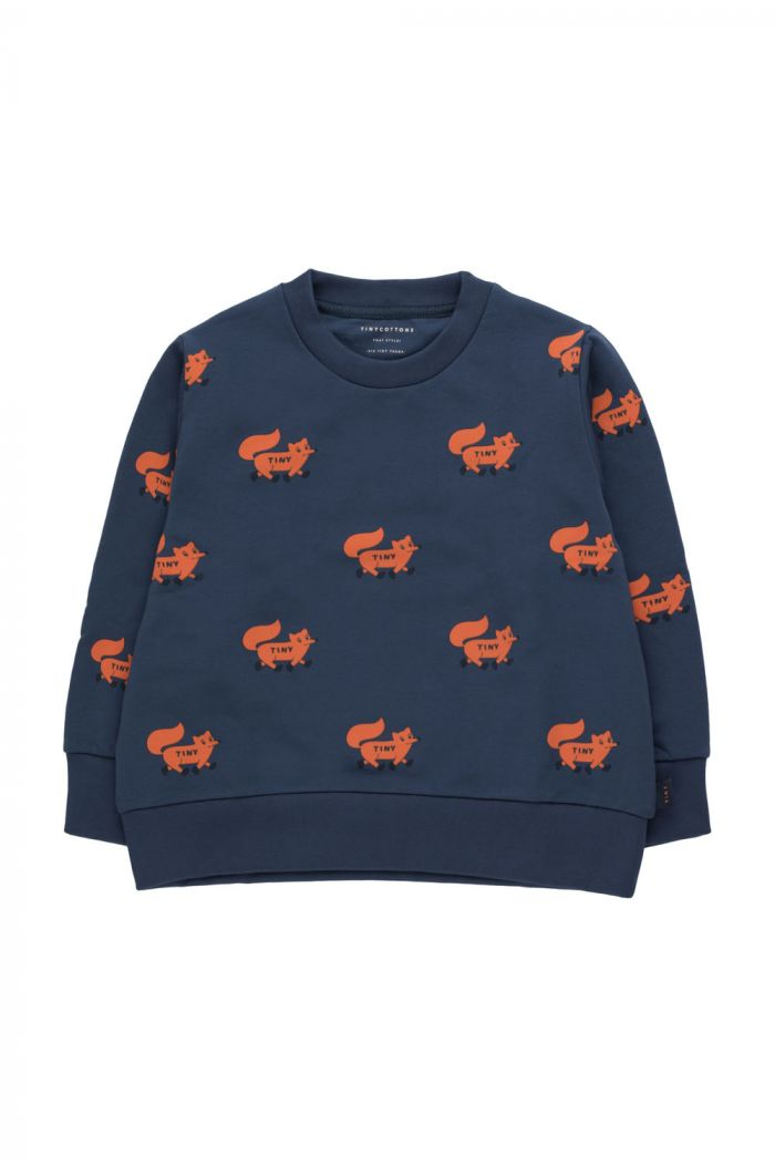"Tinycottons ""Foxes"" Sweatshirt light navy/sienna_1"