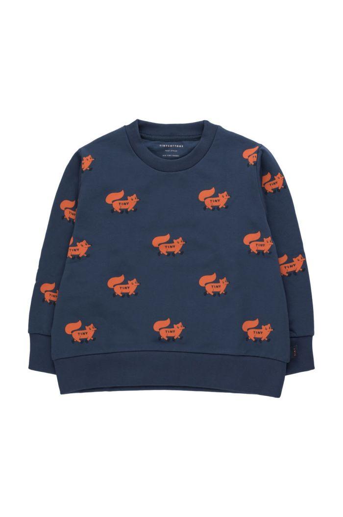 "Tinycottons ""Foxes"" Sweatshirt light navy/sienna_1"