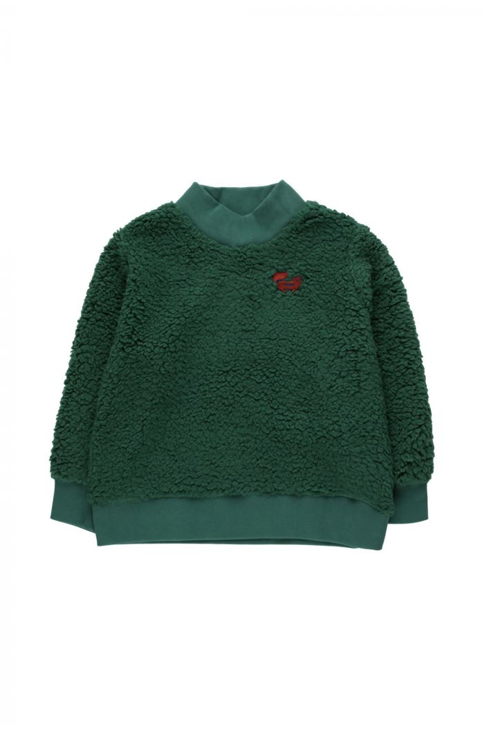 "Tinycottons ""Tiny Fox"" Sweatshirt Dark Green_1"