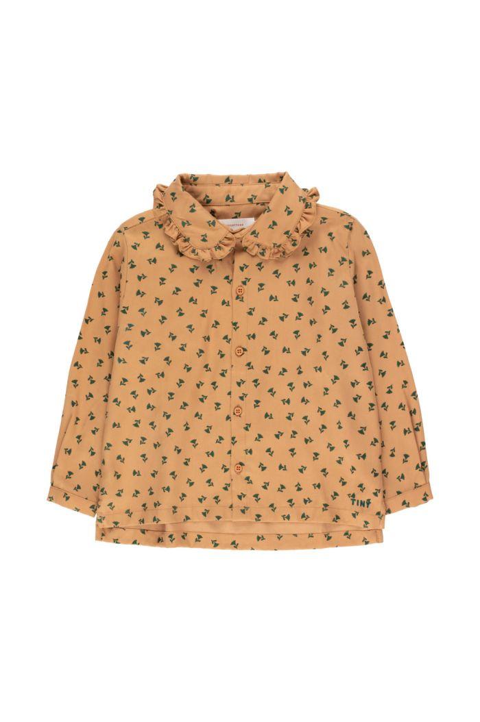 "Tinycottons ""Tiny Flowers"" Shirt light brown/dark green_1"