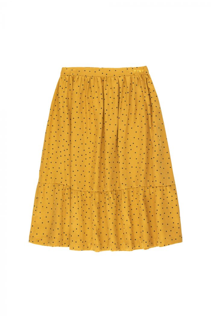 "Tinycottons ""Tiny Dots"" Long Skirt mustard/navy_1"
