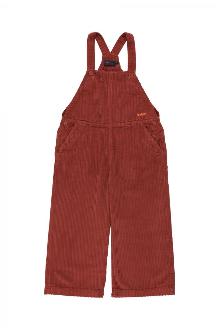 Tinycottons Solid Overall dark brown_1