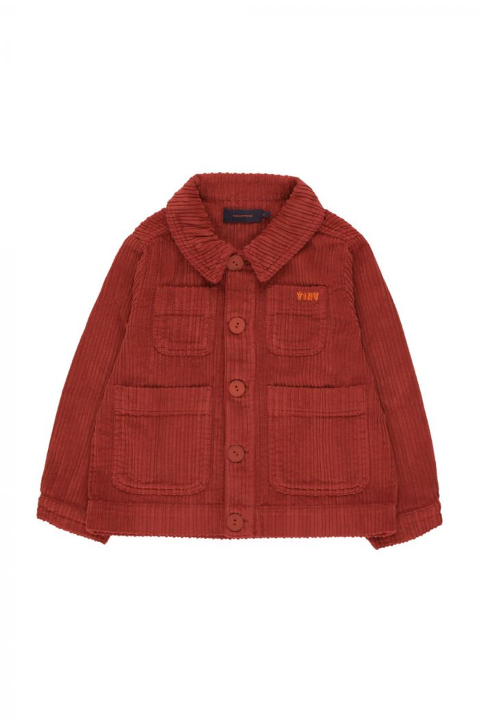 """Tinycottons """"Tiny"""" Solid Jacket dark brown_1"""