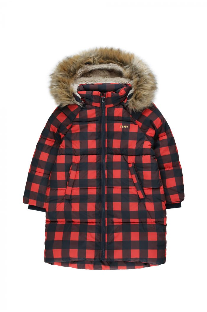 Tinycottons Check Padded Jacket navy/red_1