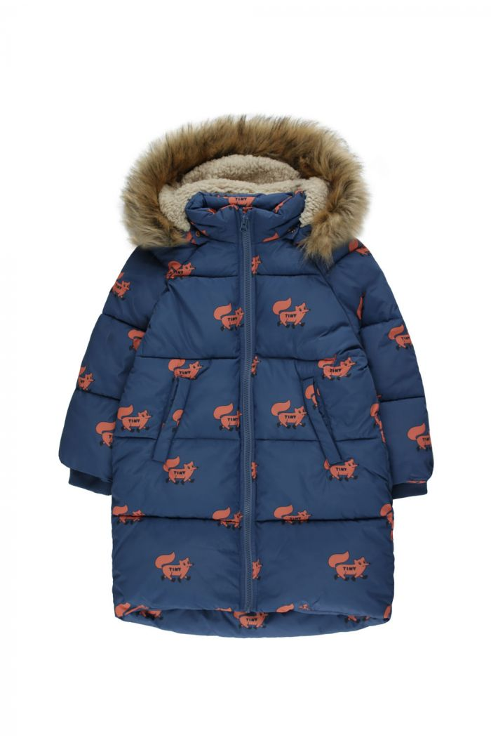 "Tinycottons ""Foxes"" Padded Jacket light navy/sienna_1"