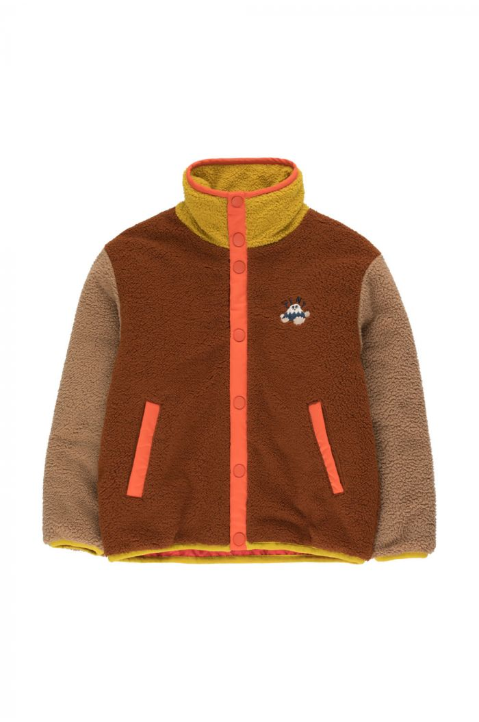 Tinycottons Color Block Polar Jacket sienna/tan_1