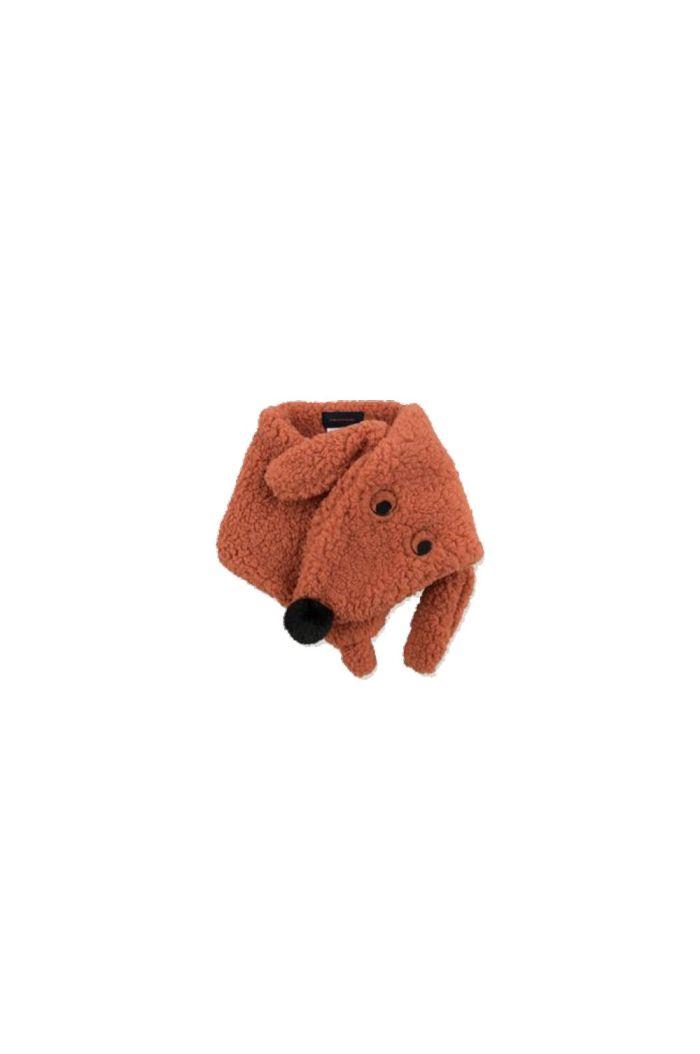 "Tinycottons ""Tiny Dog"" Sherpa Scarf sienna_1"