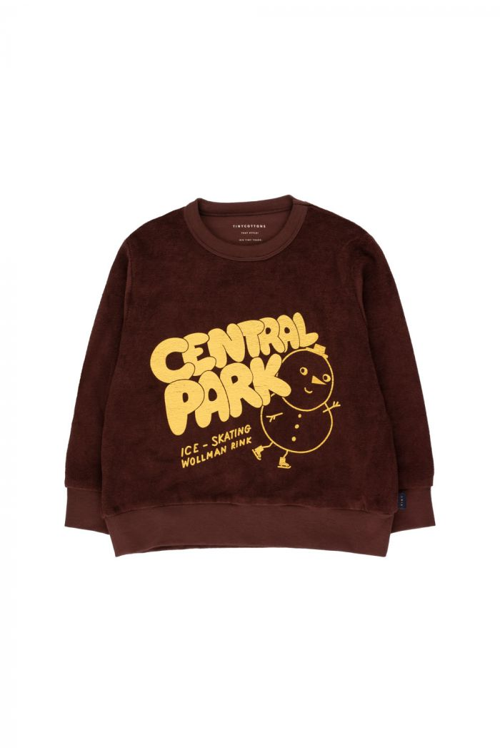 "Tinycottons ""Central Park"" Sweatshirt ultra brown/yellow_1"