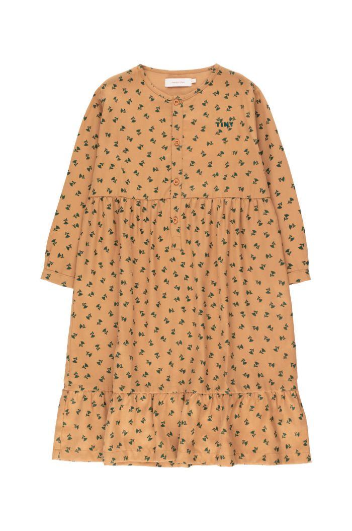 "Tinycottons ""Tiny Flowers"" Dress light brown/dark green_1"