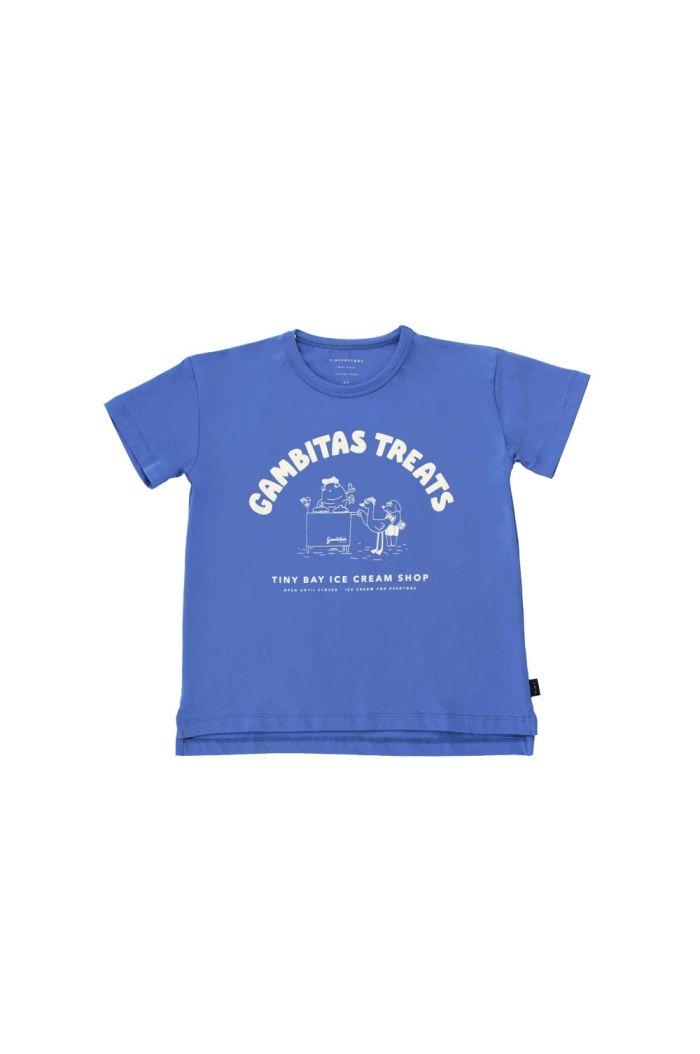 Tinycottons Gambitas Treats Tee Iris Blue/Light Cream_1
