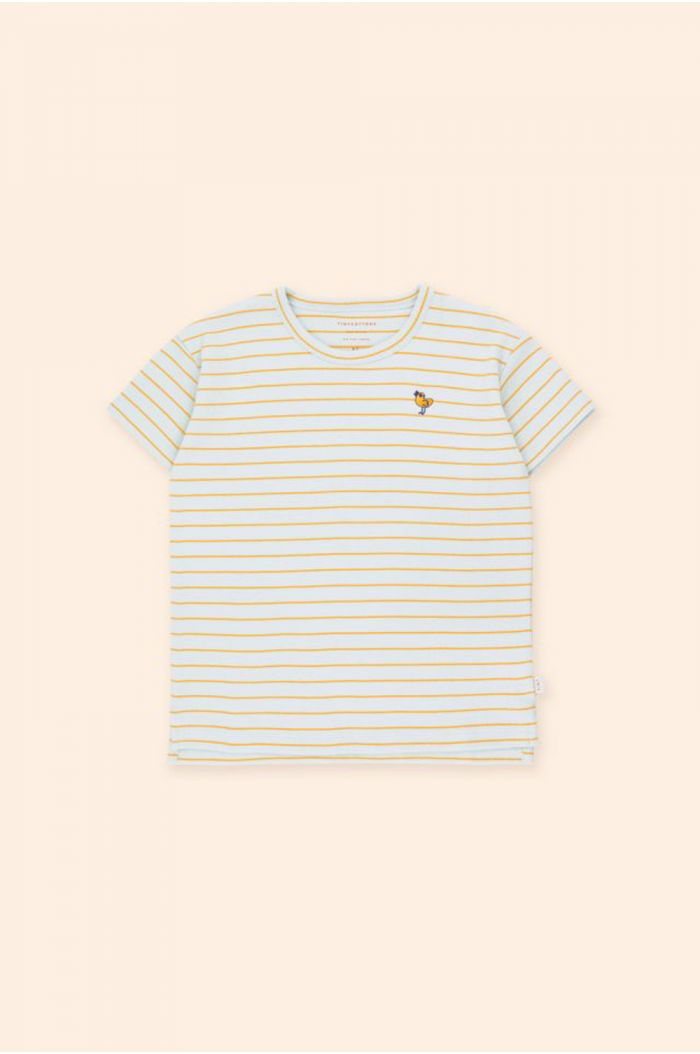 Tinycottons Bird Stripes Tee Light Blue Grey/Honey_1