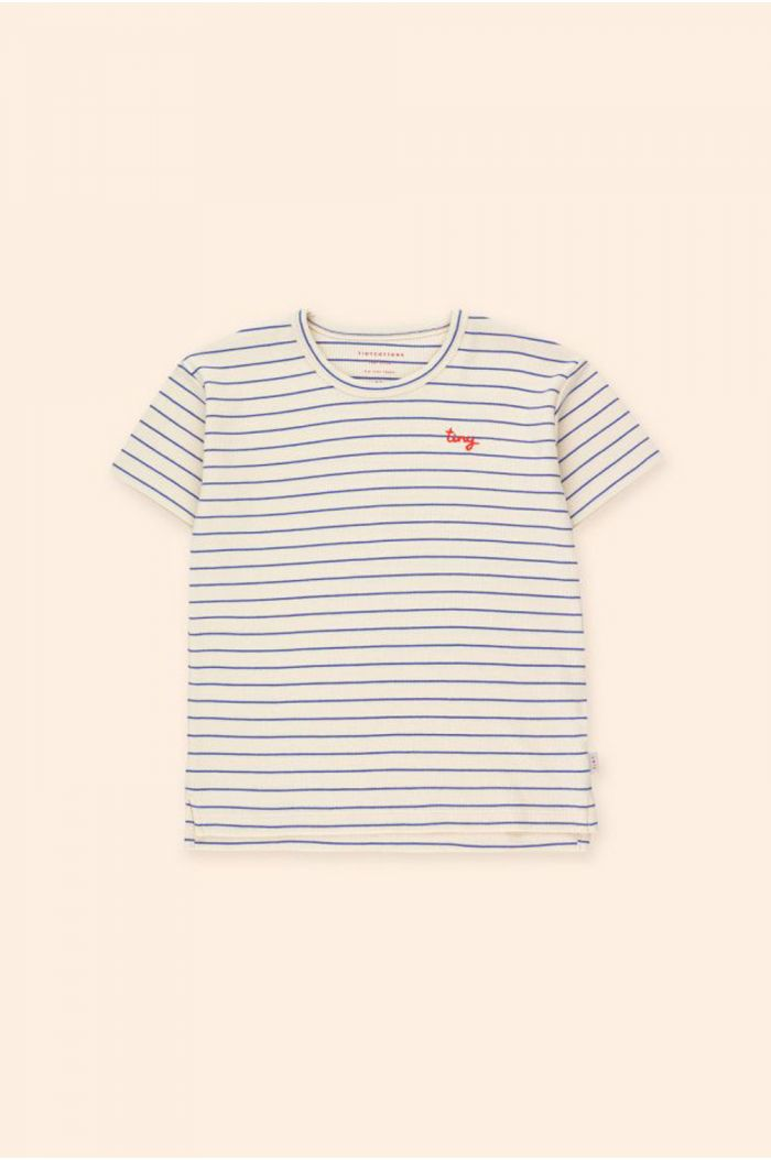 Tinycottons Tiny Stripes Tee Light Cream/Iris Blue_1