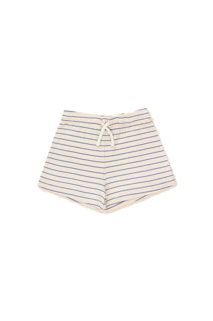 Tinycottons Stripes Short Light Cream/Iris Blue_1