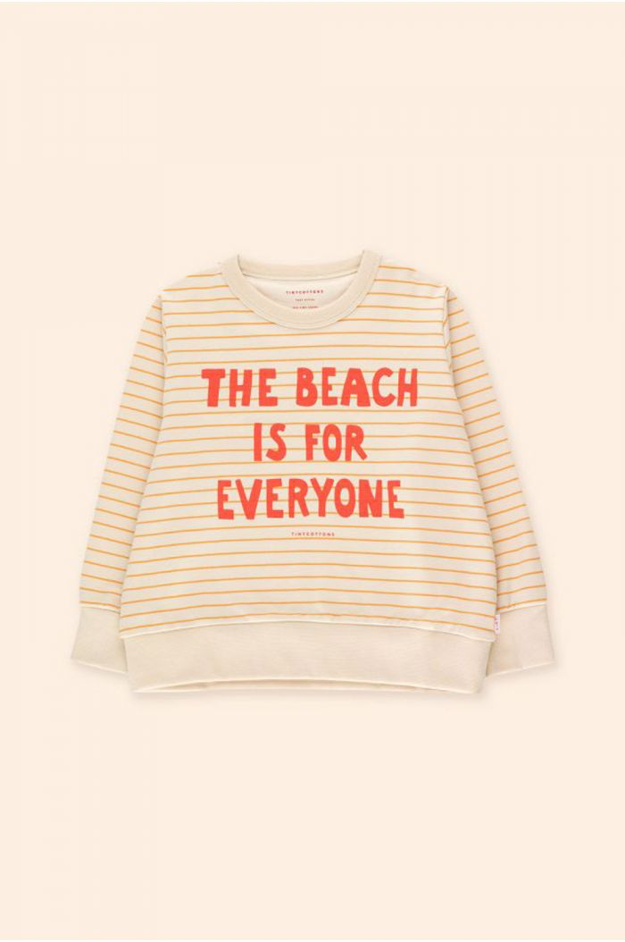 Tinycottons Manifesto Stripes Sweatshirt Light Cream/Honey_1
