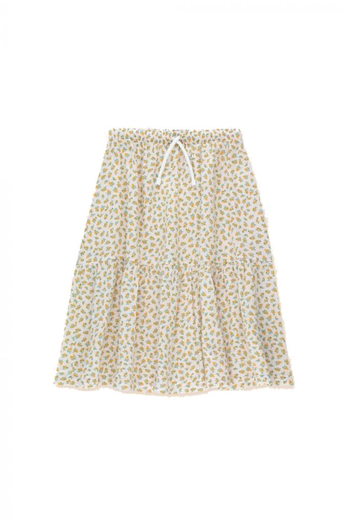 Tinycottons Small Flowers Long Skirt Pastel Pink/Honey_1