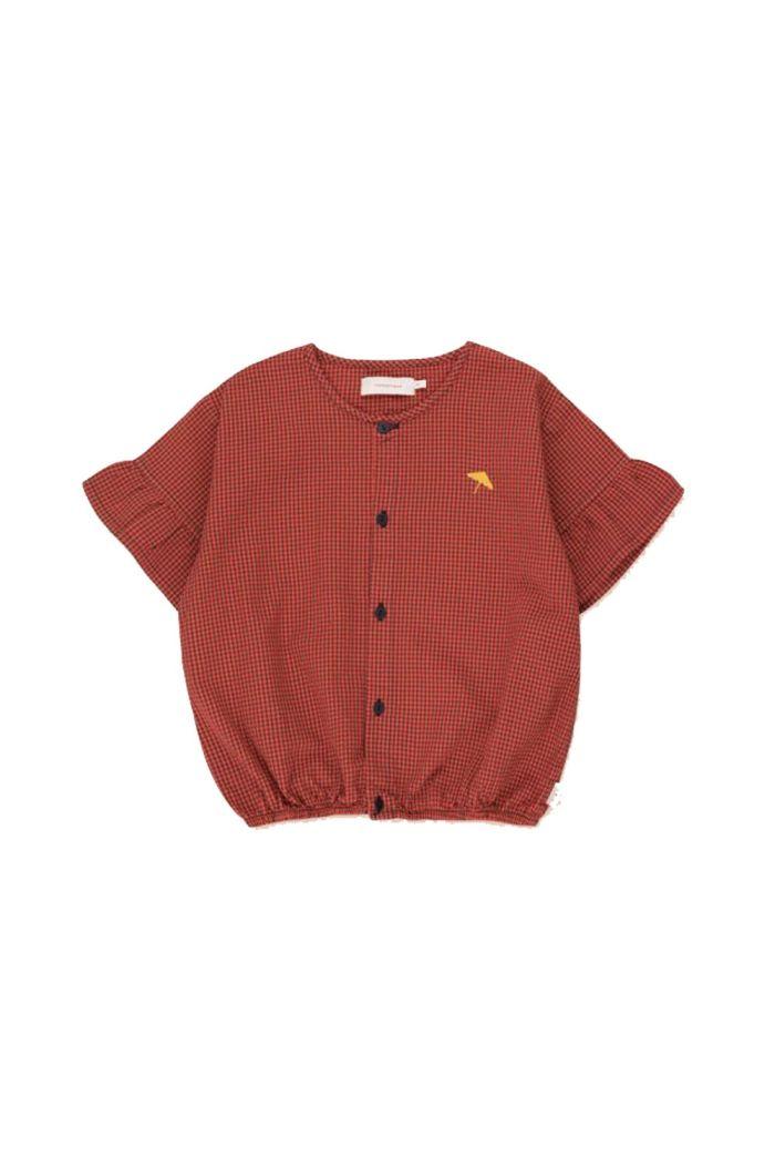 Tinycottons Check Frills Shirt Red/Iris Blue_1