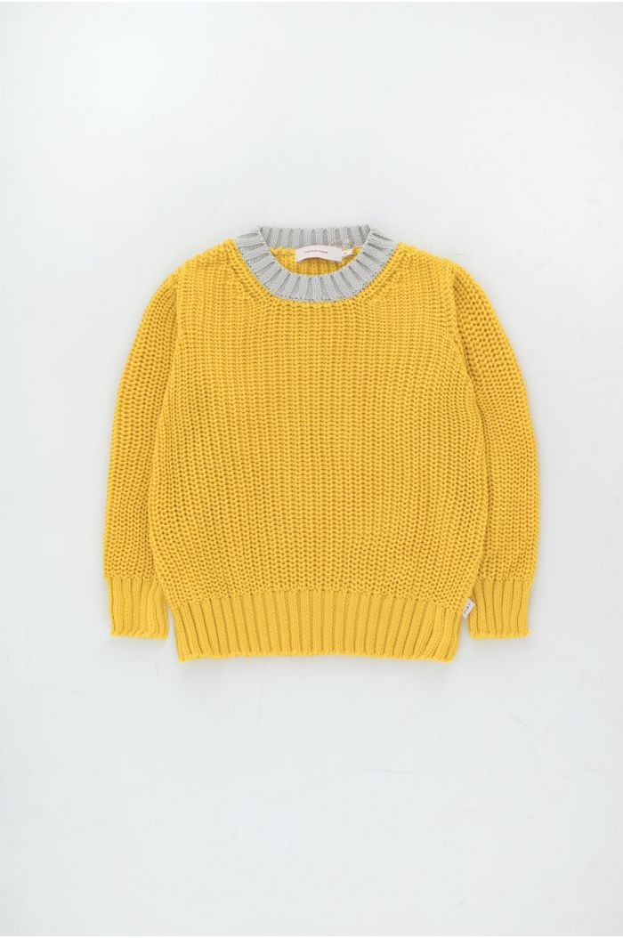 Tinycottons Color Block Sweater Yellow_1