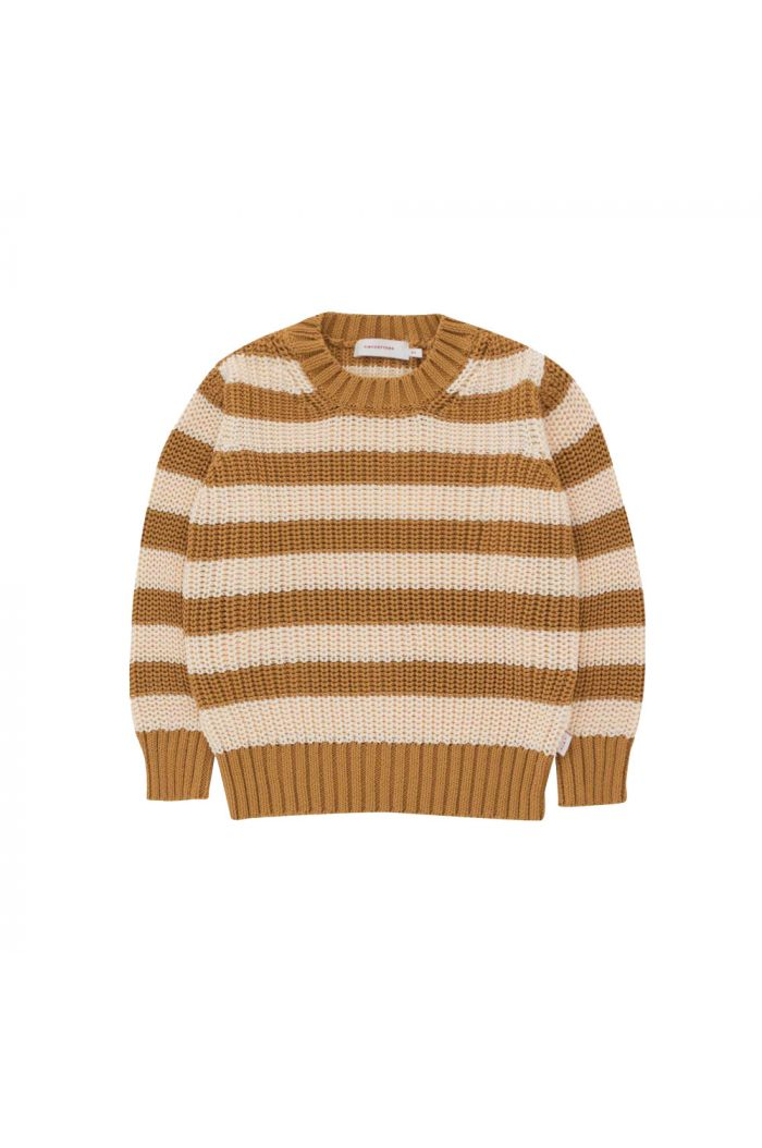 Tinycottons Stripes Sweater Caramel/Light Cream_1