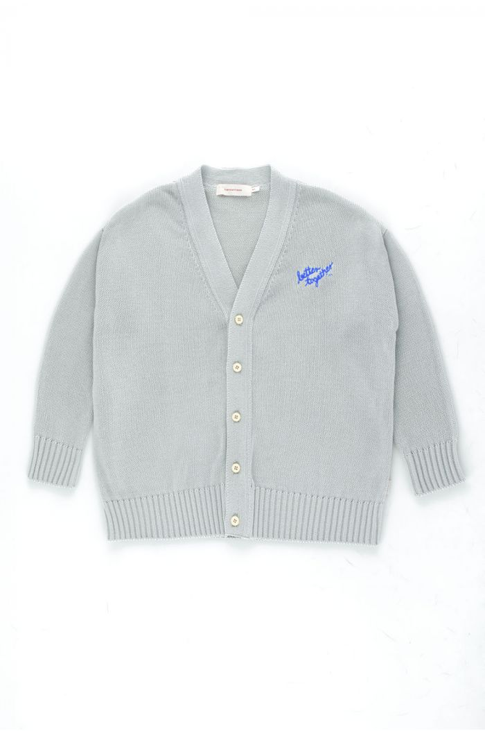Tinycottons Better Together Cardigan Pale Grey_1