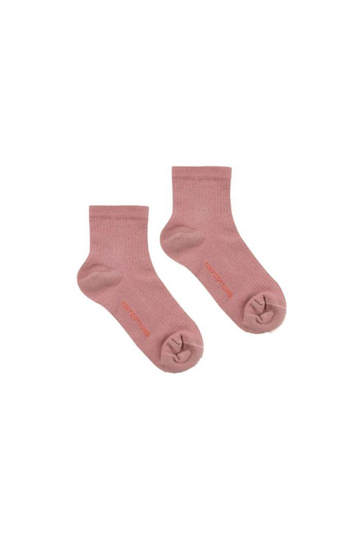Tinycottons Solid Quarter Socks Mauve_1